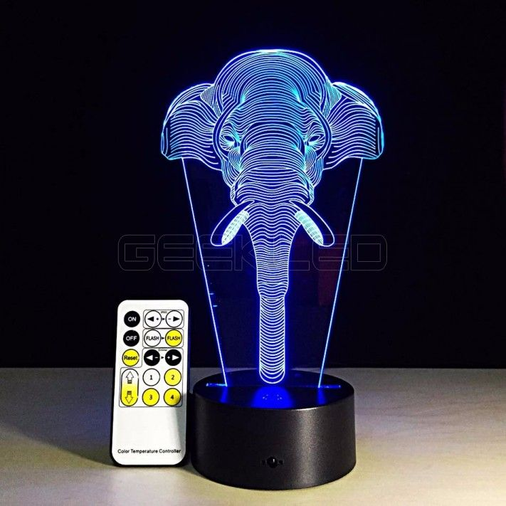 3d Optical Illusion Lamp Night Light Elephant Geekled Gift 3d Illusion Lamp Night Light Elephant Night Light