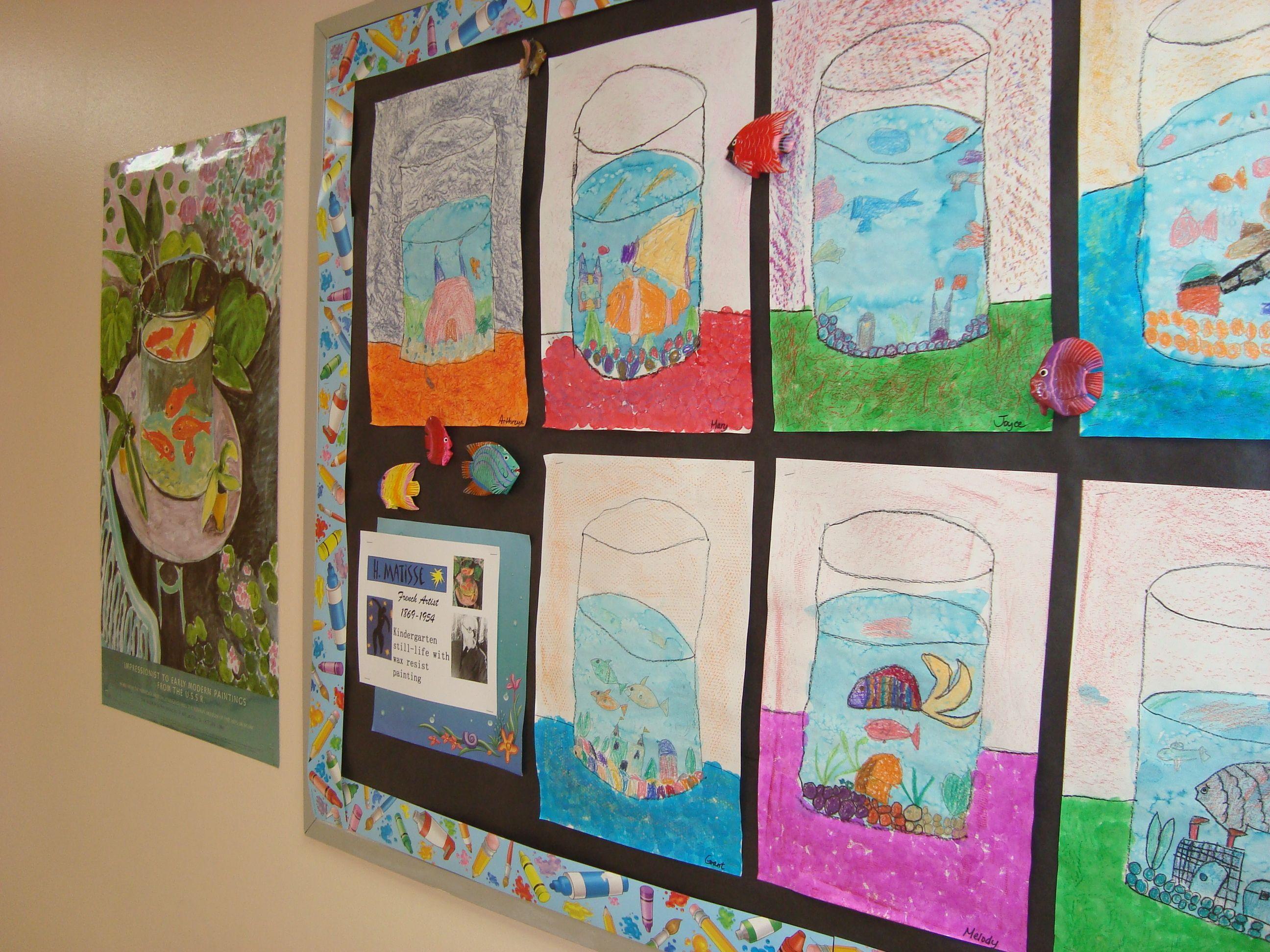 Kindergarten Matisse Still Life Fish Bowl
