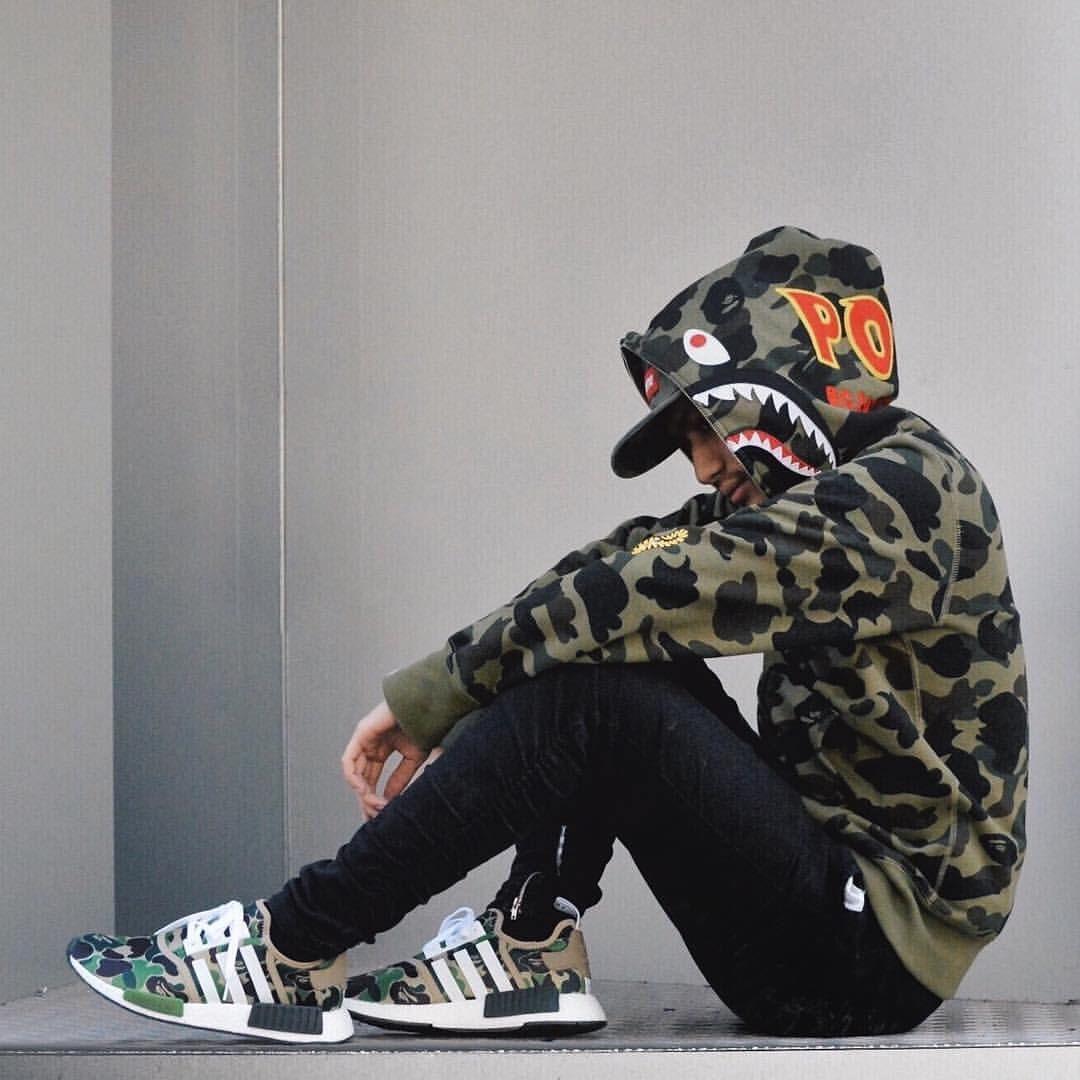 BAPE PONR Camo Hoodie x adidas NMD BAPE | i fucks with this | Pinterest | Adidas nmd