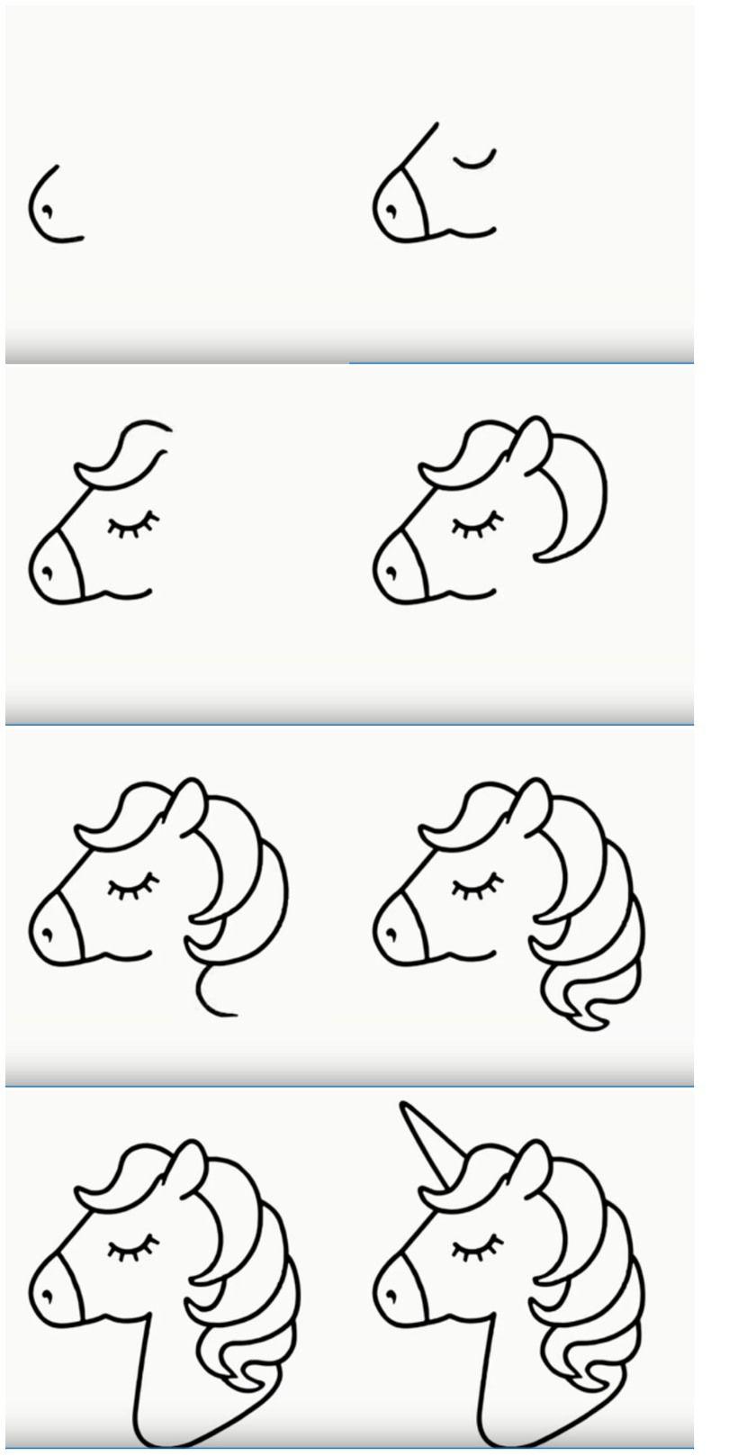 Dibuja Hermosos Unicornios Paso A Paso Guias A Lapiz Para Ninos Muy Faciles Alas Como Dibujar Un Unicornio Dibujos Sencillos Para Ninos Dibujos Faciles