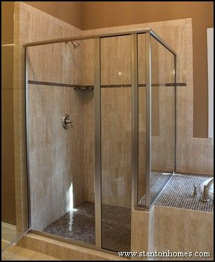 Corner bath showers are fantastic bathroom ideas for a small bathrooms  because they use up the