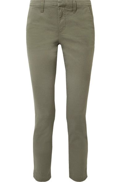 The Gray Green Wash Of J Brand S Clara Jeans Slim Fit Pants May