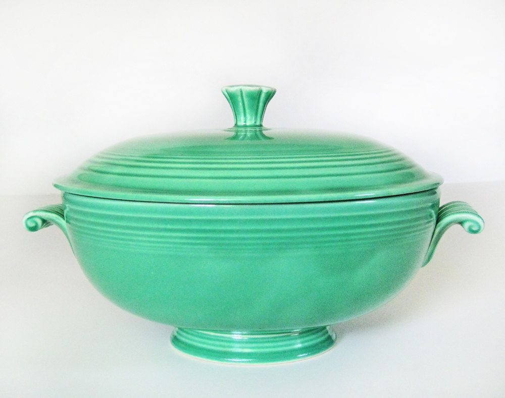 Fiesta ware casserole dish in original green, vintage Homer Laughlin ...