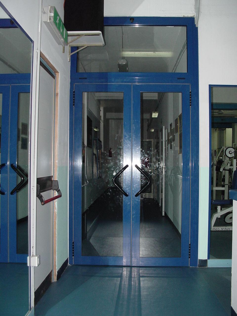 Porta Divisoria Interna In Vetro Visarm Su Infisso