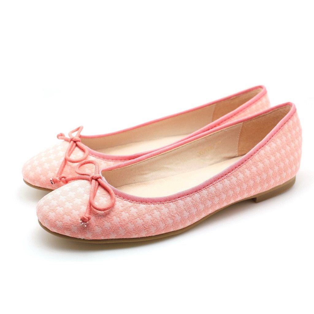 Cross Pattern Ballerina (Pink)