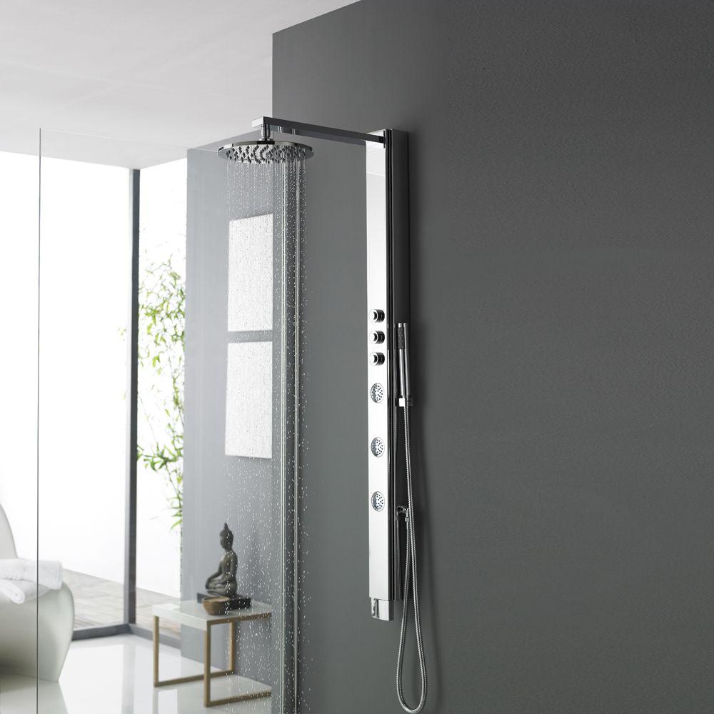 Hudson Reed Pannello Doccia Termostatico Imber Bathroom Shower Panels Shower Panels Simple Bathroom