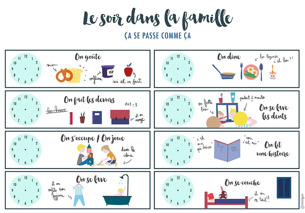 routine enfant soir free printable pinterest routine enfant enfants et ducation. Black Bedroom Furniture Sets. Home Design Ideas