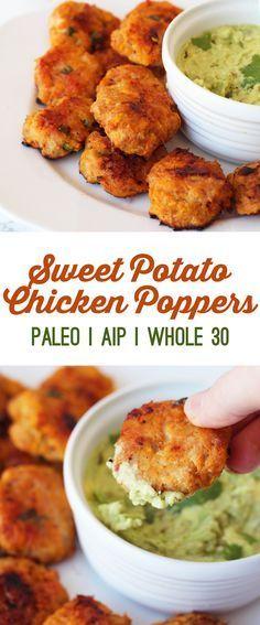 Sweet Potato Chicken Poppers