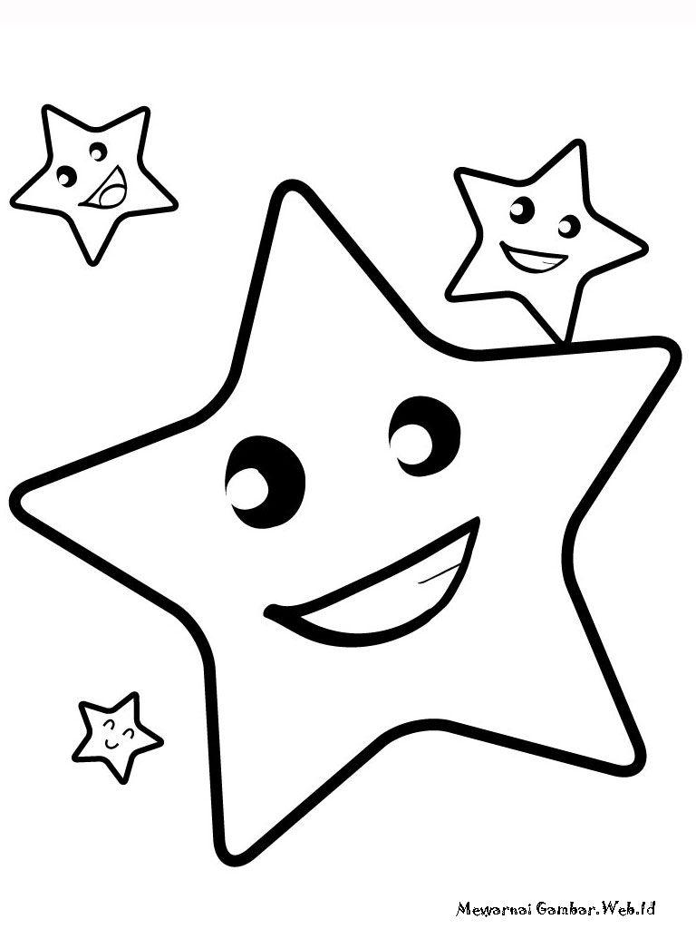 Kumpulan Mewarnai Gambar Bintang Gratis