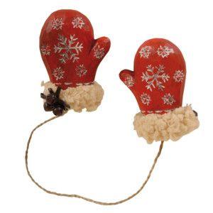 Závesné dekoratívne rukavičky Red Mitten