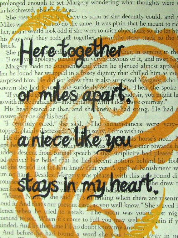 Niece Quote Saying Poem Print On A Book Page My Ash Niece