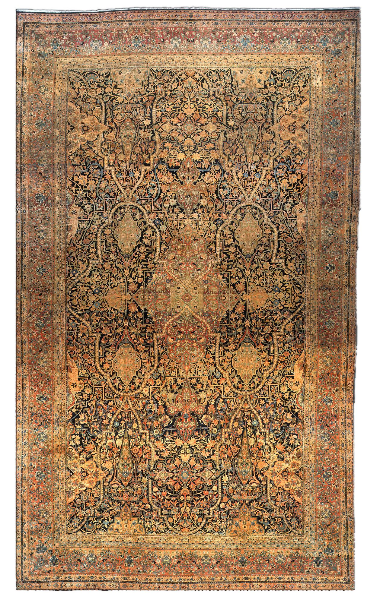 Antique Persian Kirman Carpet Just Rugs Pinterest