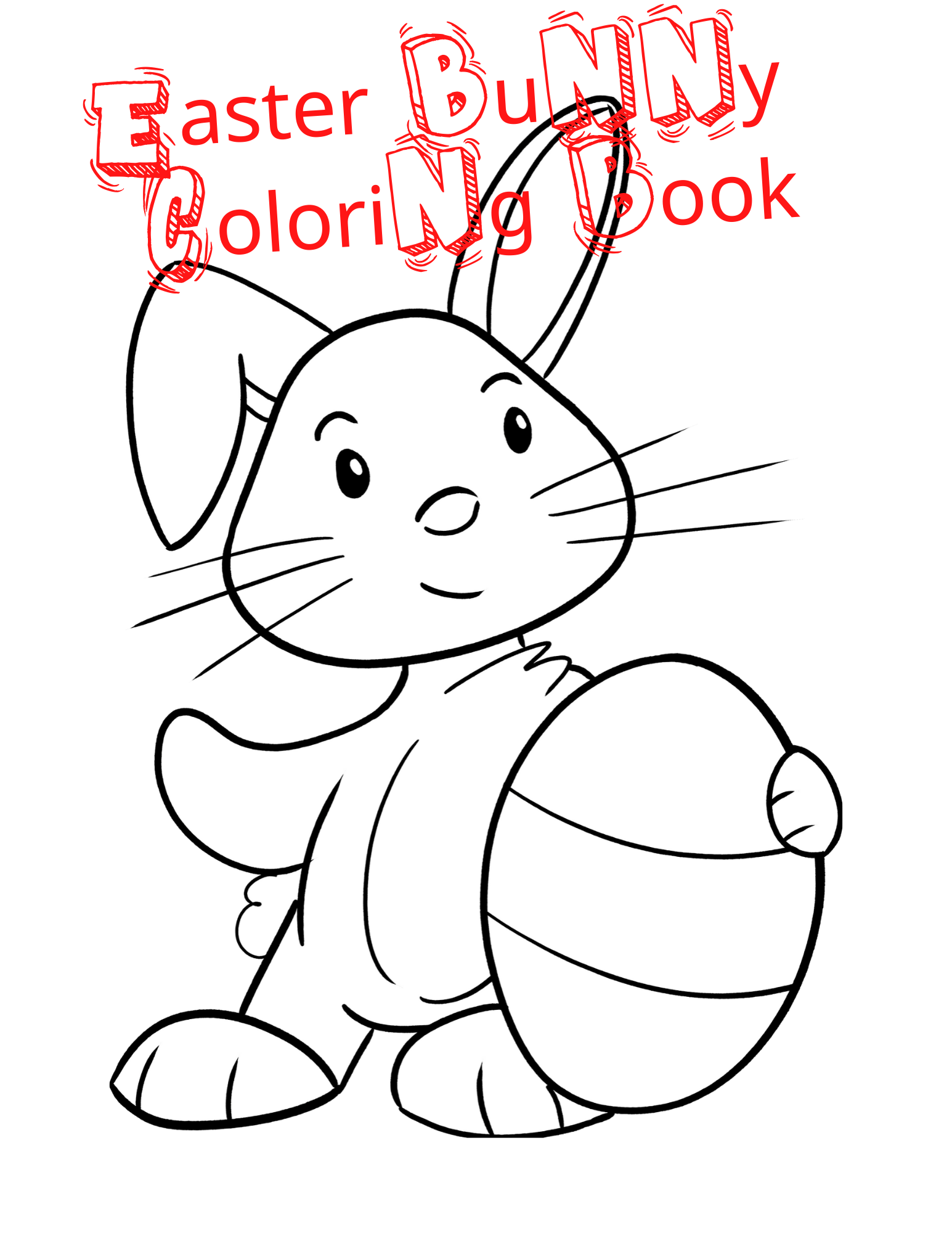 Easter Bunny Coloring Book For Kids Easter Coloring Book Toddler Coloring Book Easter Bunny Colouring