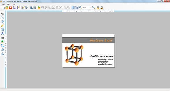 technically advanced business card designer software is a helpful