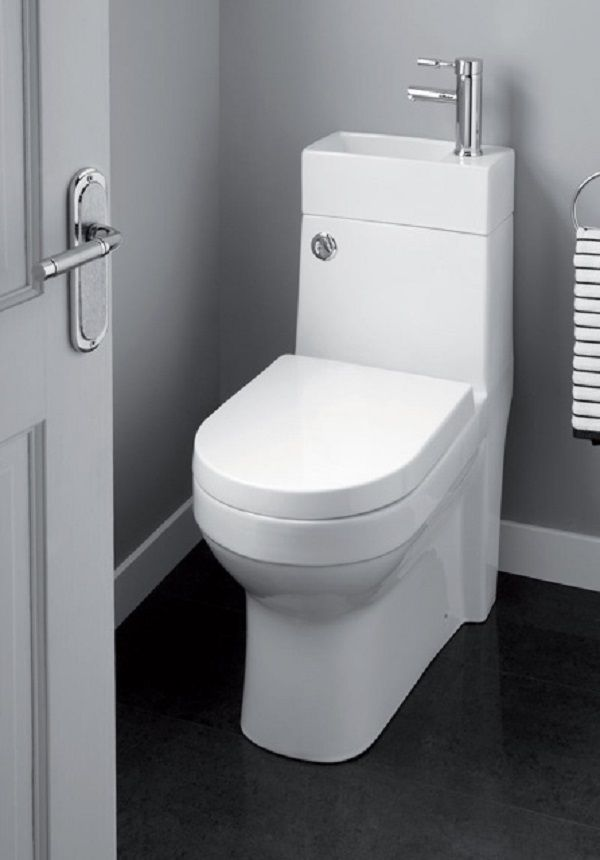 2 In 1 Toilet And Basin Space Saver Bathroom Suite I M Not Sure I D Like To Straddle The Toilet To Was Space Saving Toilet Small Toilet Room Downstairs Toilet
