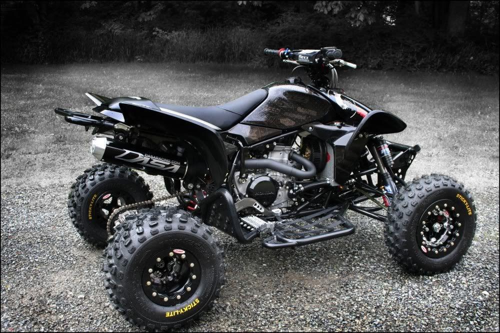 Custom honda trx450r with dasa exhaust | custom fourwheelers