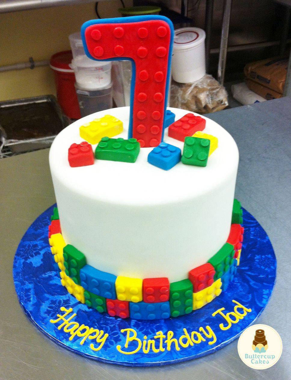 Lego Themed Birthday Cake Birthday Cakes Pinterest ...