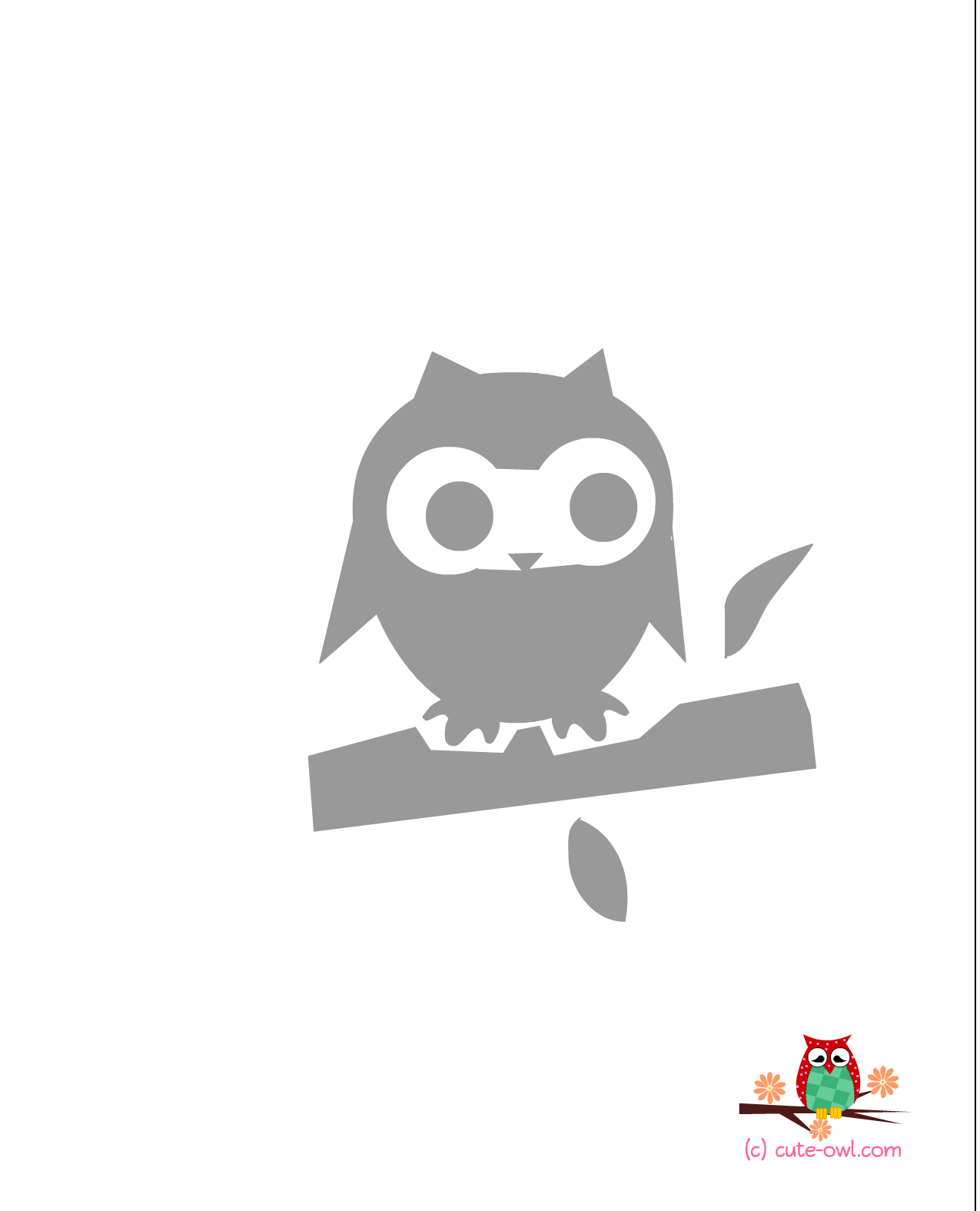graphic regarding Printable Owl Stencil identified as Adorable Owl Stencils Free of charge Printable Little one Shower Owl stencil