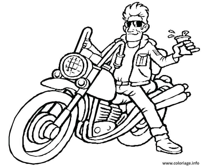 Freestyle Motocross Dirt Bike Coloring Pages