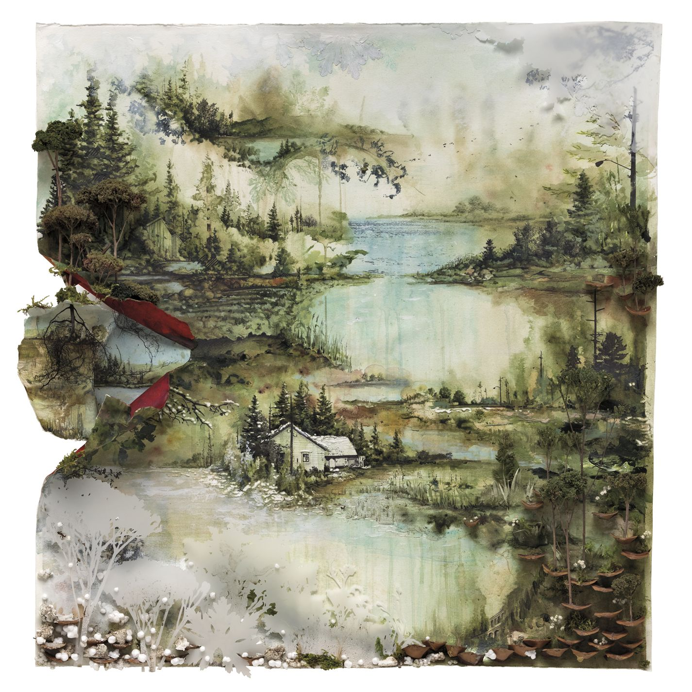 Cover Of Self Titled Album With Images Bon Iver Album Art