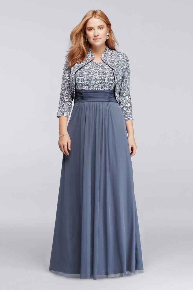Chiffon Long 3 4 Sleeve Plus Size Jacket Mother Of Bride Groom Dress Powder Blue 16w