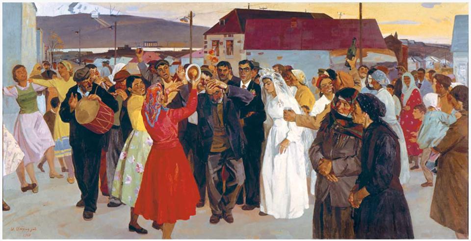"""Sarkis Muradyan (1927–2007) """"The Wedding,"""" 1973."""