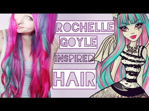 Haare wie Rochelle Goyle ! (Monster High) Watch in 1:58 ( I don't understand the language, I just watch :P )