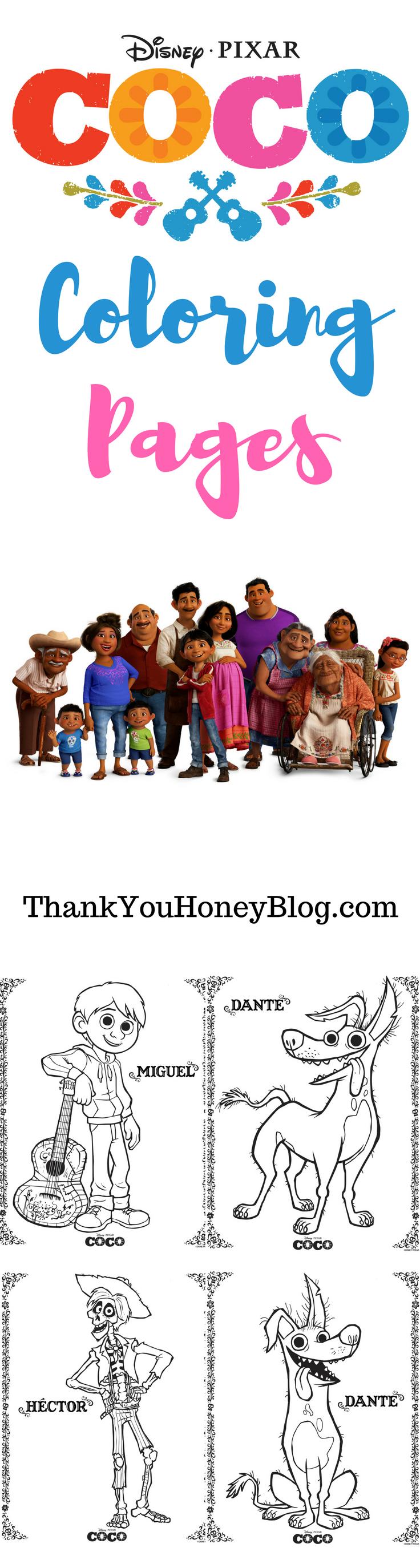 Disneyupixars coco coloring pages disney disney film movie and
