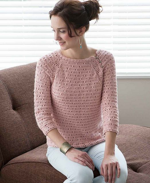 rose quartz pullover  Blueprint Crochet Sweaters  Interweave
