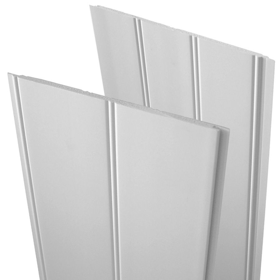 Shop Evertrue 7 5 In X 2 83 Ft Double Bead White Pvc Wainscoting Wall Panel At Lowes Com Pvc Wall Panels Pvc Wall Vinyl Beadboard