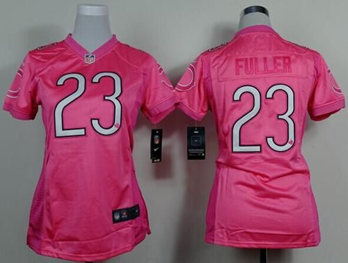 best service ca6a6 e4cdd Nike Bears  23 Kyle Fuller Pink Women s Be Luv d Stitched NFL New Elite  Jersey And  Melvin Gordon jersey