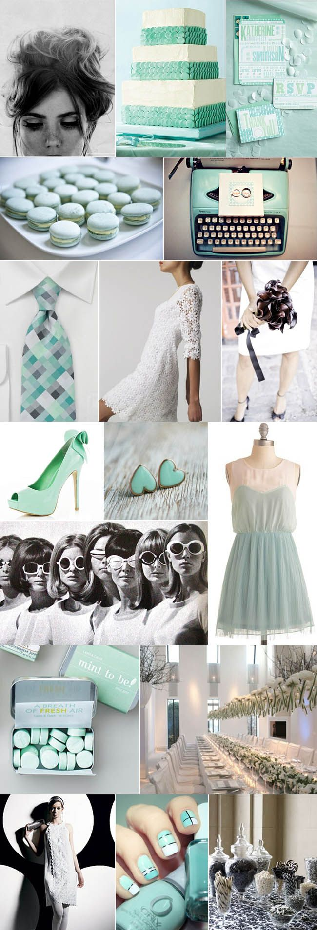 Mod, Mad Men Meets Mint Vintage Wedding - Vintage Wedding Ideas ...