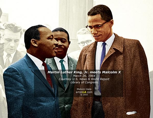 Martin Meets Malcom X Malcolm X Martin Luther King Jr Martin Luther King