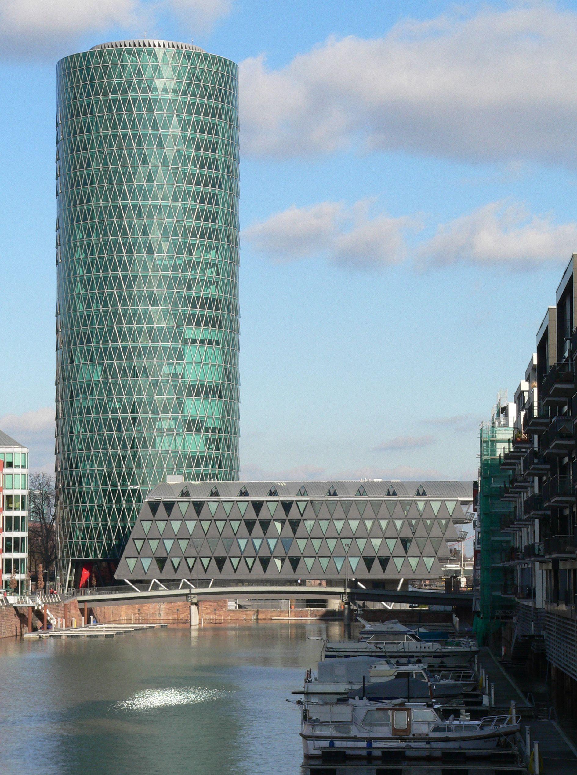 Frankfurt Westhafen Tower International Style Architecture Frankfurt Am Main Frankfurt Germany