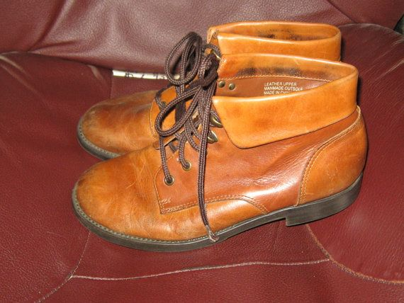 vintage 80s Earth shoe brown leather ankle by Linsvintageboutique, $27.50