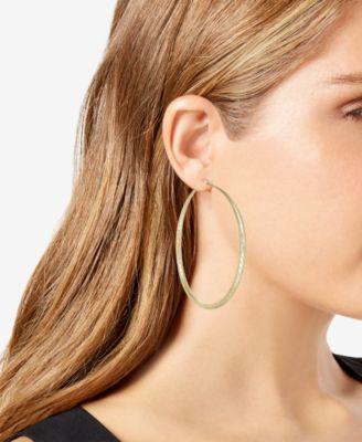 5c234cd716635 Thalia Sodi Gold-Tone Textured Hoop Earrings, Created for Macy's ...