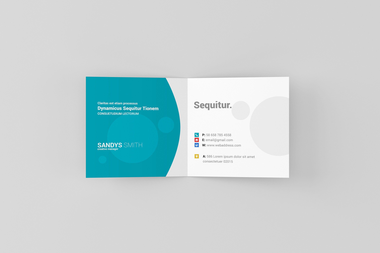 Square Folded Business Card Mock Ups Folded Business Cards Business Card Mock Up Square Brochures