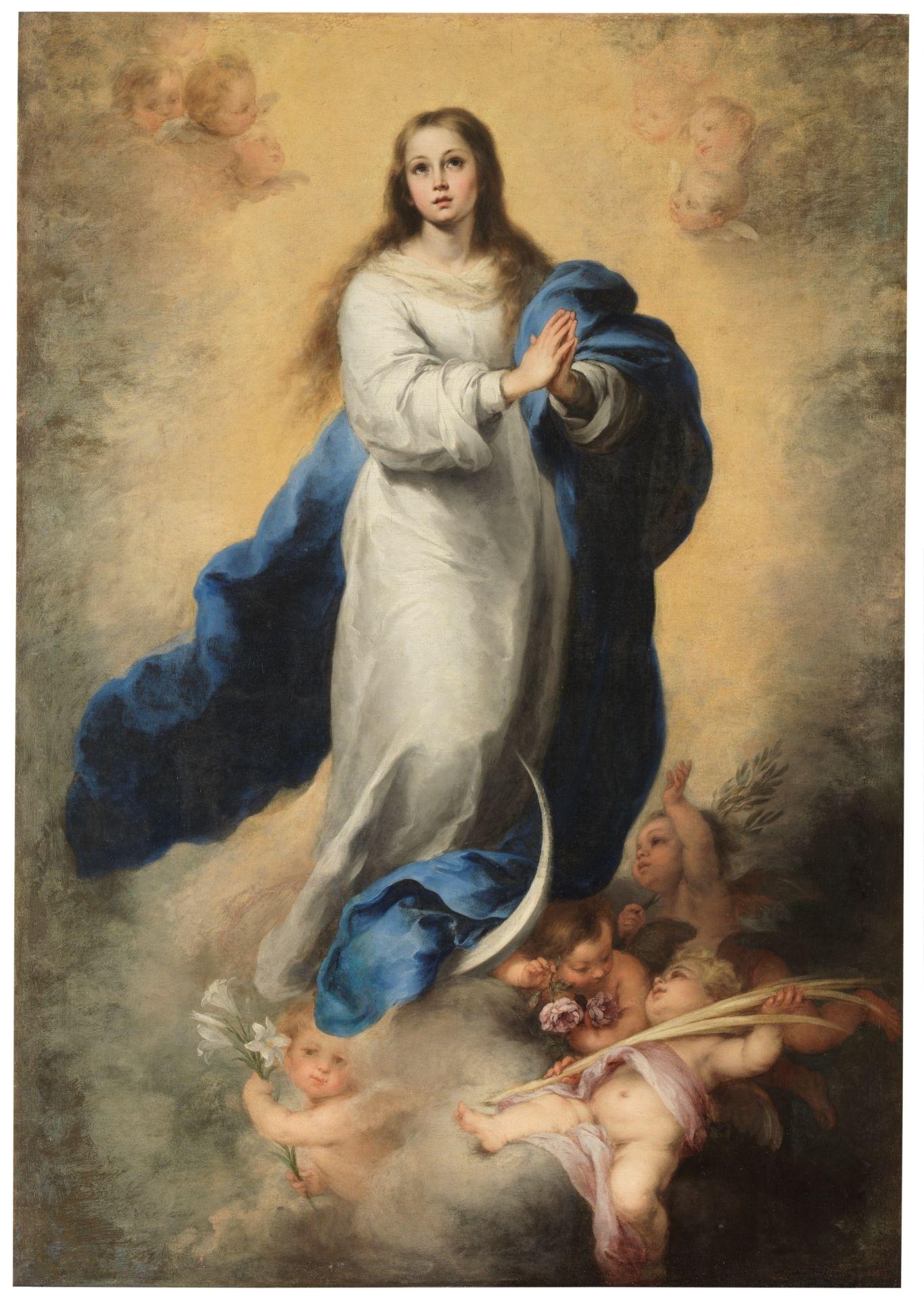La virgen vestida de blanco