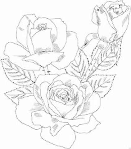 pintura-em-tecido risco rosa realista | Rosa camino de mesa | Pinterest