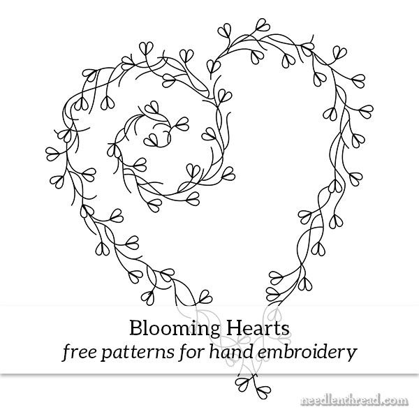 Blooming Hearts Free Hand Embroidery Pattern Stitch Ideas Hand