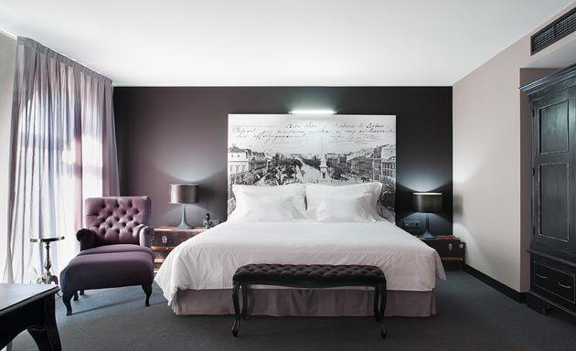 Vestir la pared del cabecero cama de matrimonio con un gran cuadro ideas para la pared del - Cuadro cabecero cama ...