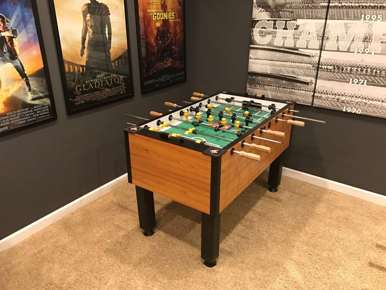 Tornado Foosball Table In A Game Room Corner Foosball Table