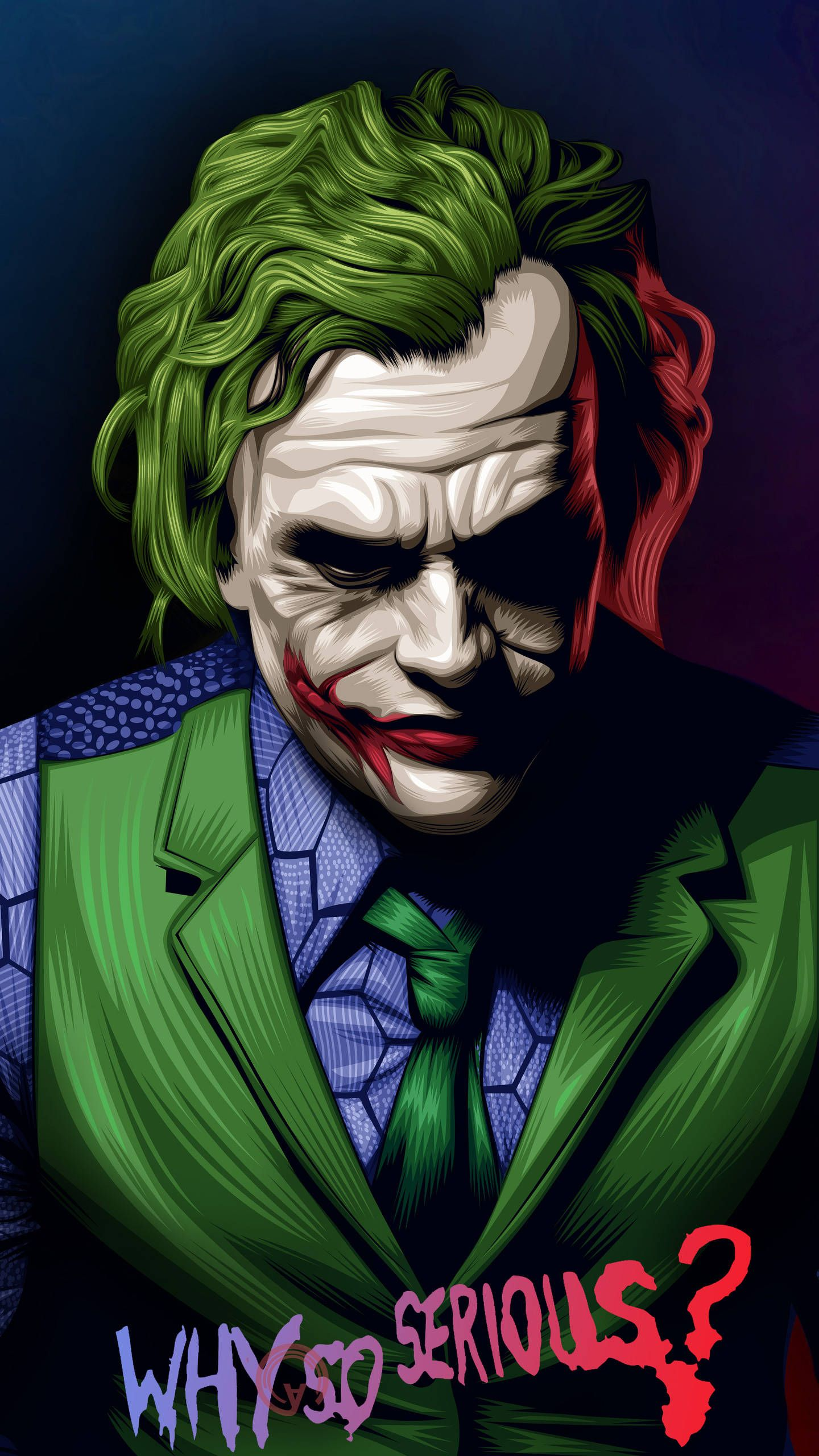 Joker Heath Ledger Illustration Hd Wallpaper In 2020 With Images