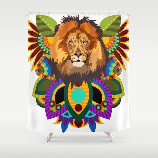 African Lion Shower Curtain Customize Your Bathroom Decor