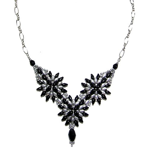 Cosmos Necklace and Earrings pattern for sale at
