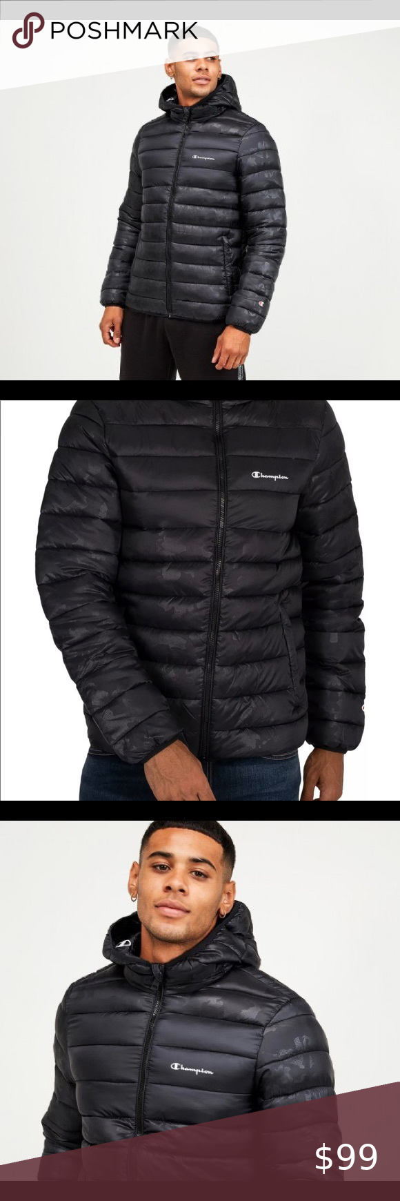 New Champion Men S Hooded Puffer Jacket Product Info Champion Linear Left Chest Logo Padded Jacket Champion Linear Lef Mens Hooded Clothes Design New Champion [ 1740 x 580 Pixel ]