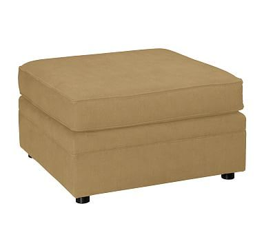 Pearce Upholstered Sectional Ottoman, Polyester Wrapped Cushions, Performance Everydaysuede(TM) Nutmeg