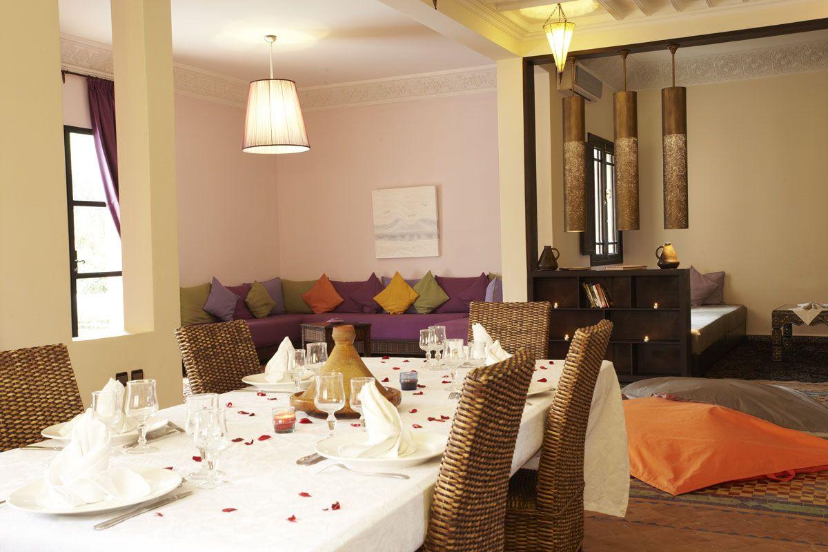 Villa Abalya, Salle à manger - SejourMaroc - Marrakech