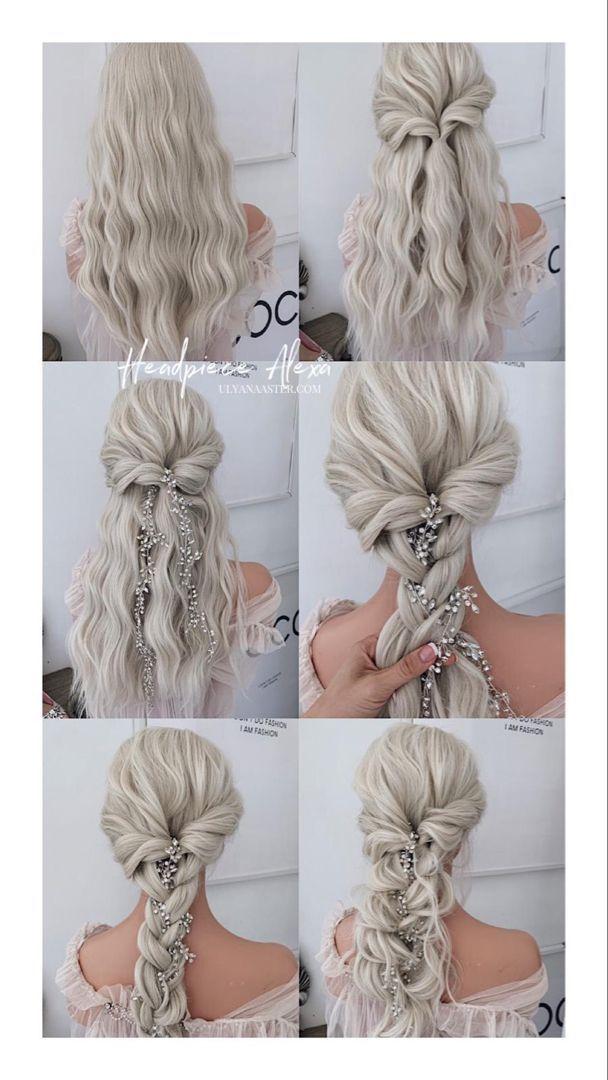 wedding hair with headpiece #wedding #hair #weddin - weddinghair