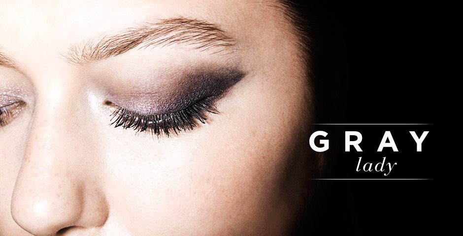 Gray Eye Makeup Takes Center Stage // Click to see our guide to gray eyes.
